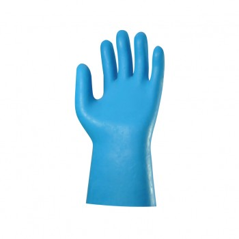 Gants Latex Bleu sur jersey