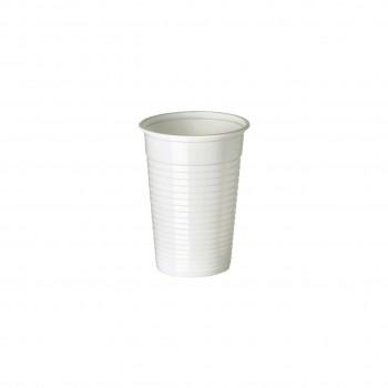 Gobelets plastiques blancs